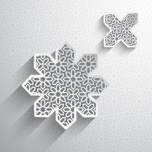 Gráfico de papel do elemento de design islâmico vetor