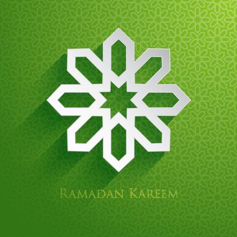 Salutations du Ramadan vecteur