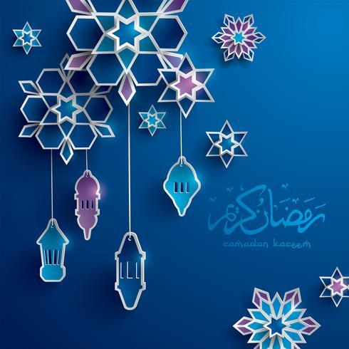 Ramadan papper grafiskt hälsningskort