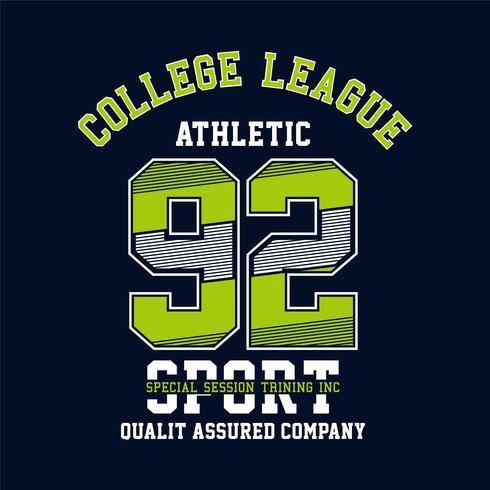 Selo de tipografia de esporte atlético