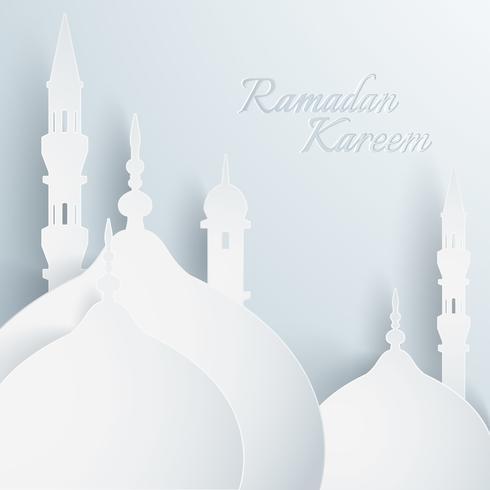 Papiergraphik der islamischen Moschee