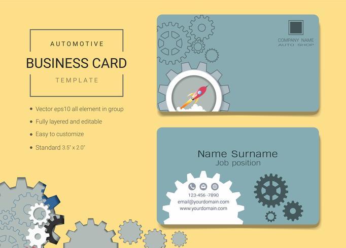 Plantilla de diseño de tarjeta de nombre de negocio automotriz.