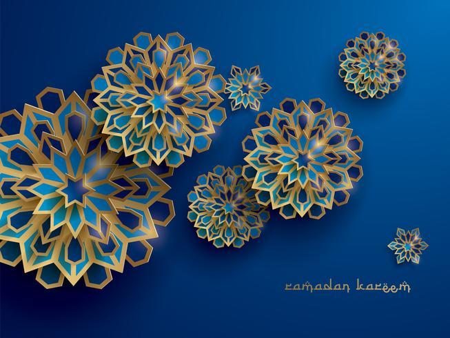Papel gráfico del arte geométrico islámico. vector