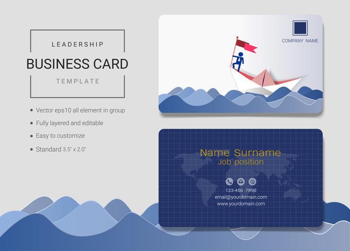 Leadership business name card design template.