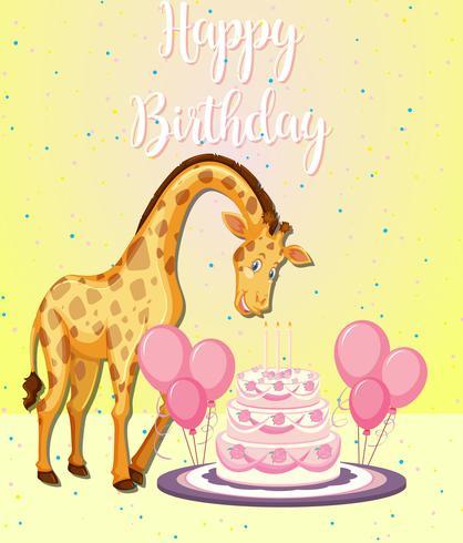 Giraff på en fest
