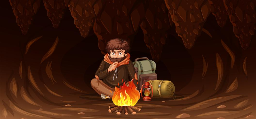 Mann in der Höhle gefangen