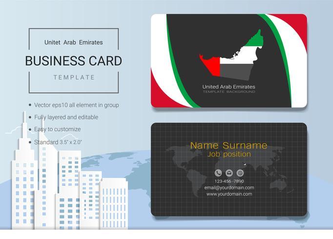 Plantilla abstracta del diseño de la tarjeta de presentación del negocio de los UAE. vector