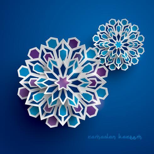 Grafica cartacea dell'arte geometrica islamica