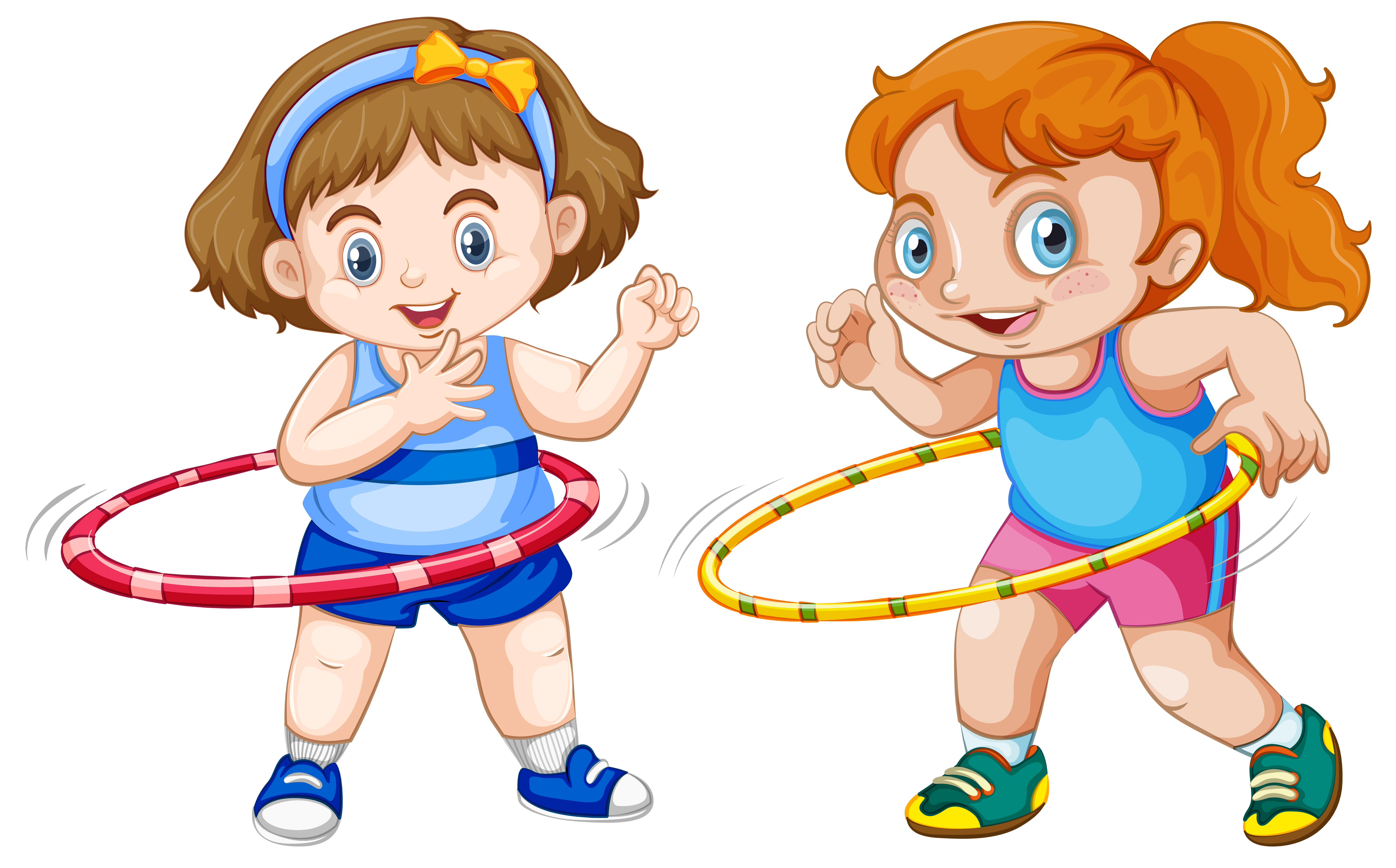 Fat girl playing hula hoop Vector - Download Free Vector ...