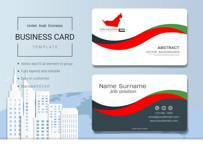 UAE Abstract business name card design template. vector