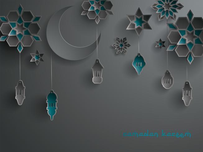 Papier graphique de décoration islamique