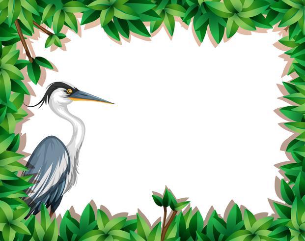 Ein Storch auf Naturrahmen