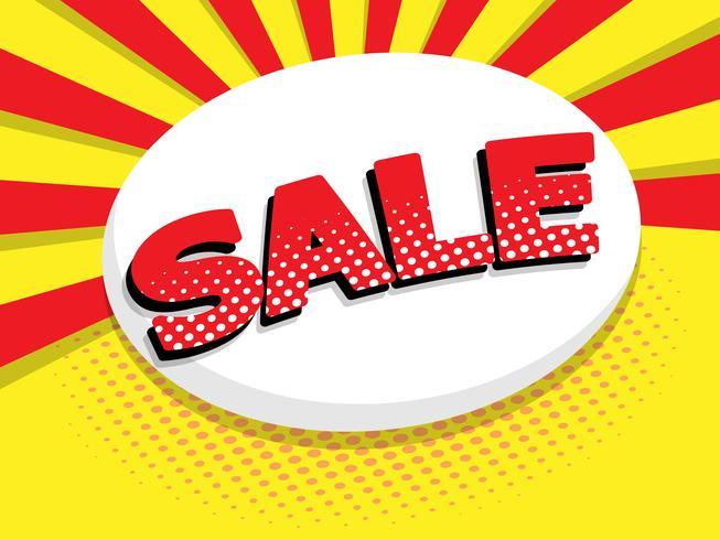 sale label comic book, pop art vector