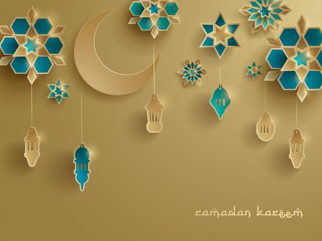 Papieren afbeelding van islamitische decoratie