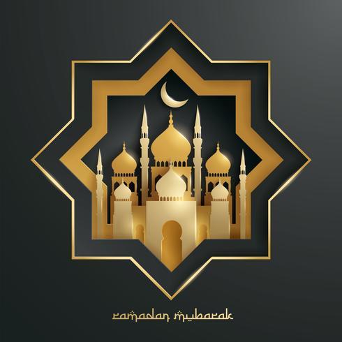 Papper grafisk av islamisk moské