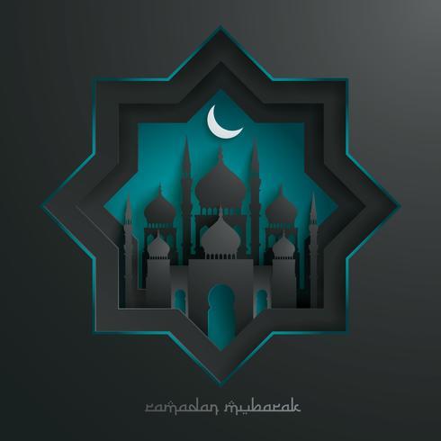 Papiergrafik der islamischen Moschee