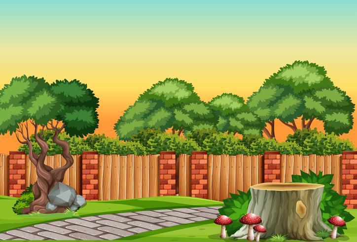 A nature garden scene