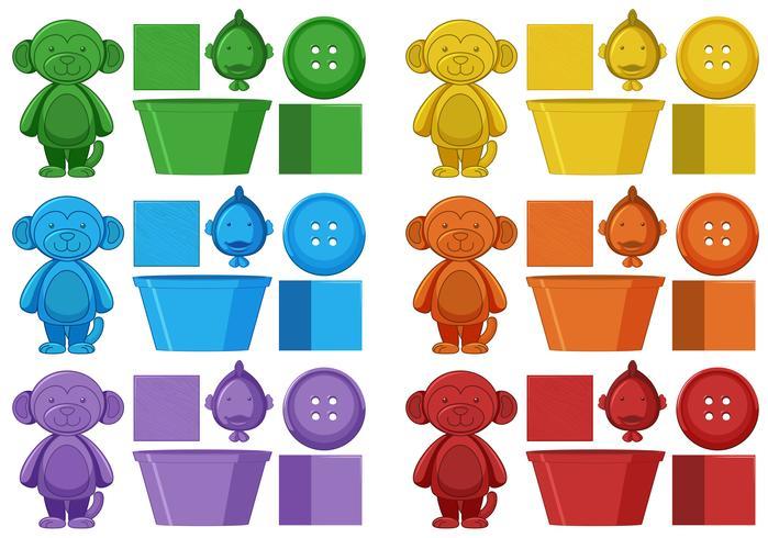 Set van kleurrijk element