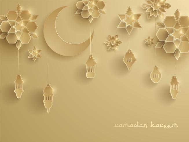 Papper grafisk av islamisk dekoration
