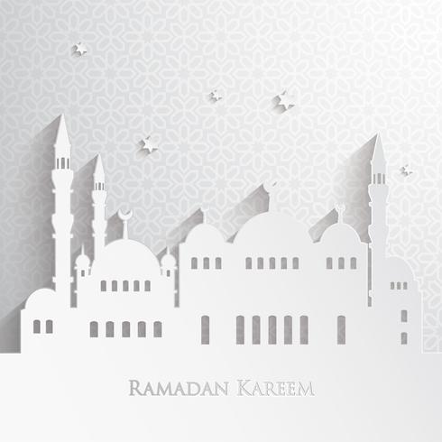 Papier graphique de la mosquée islamique