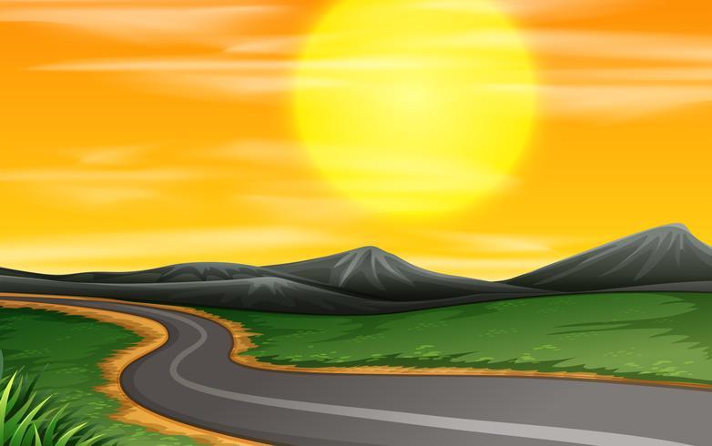 Road through a field