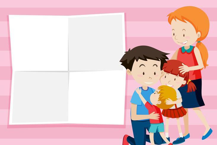 Gelukkige familie notitie sjabloon