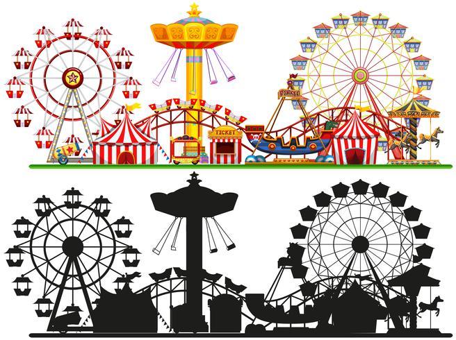 Set van circus achtergrond