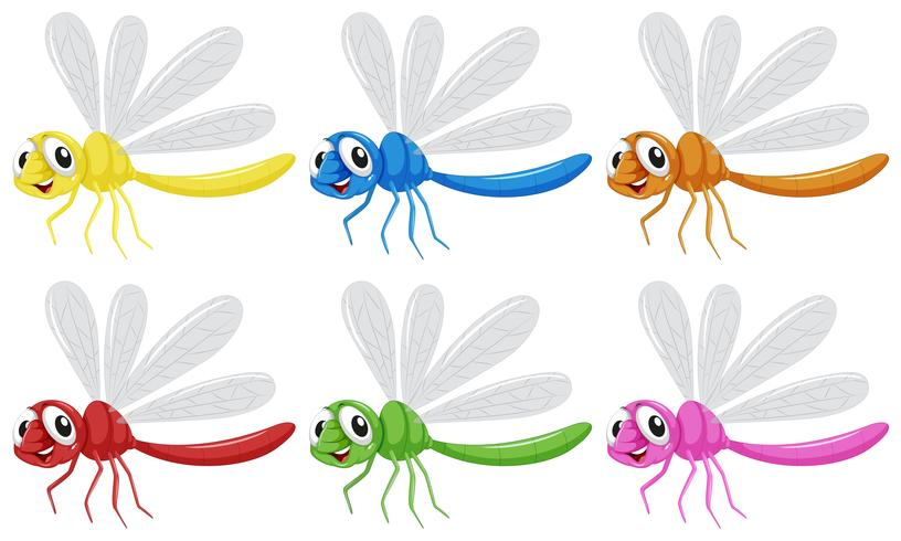 Set van libelle karakter