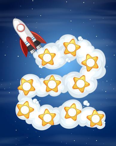 Modelo de jogo de espaço de foguete
