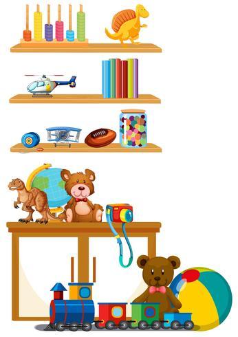 Kinderspielzeug im Regal