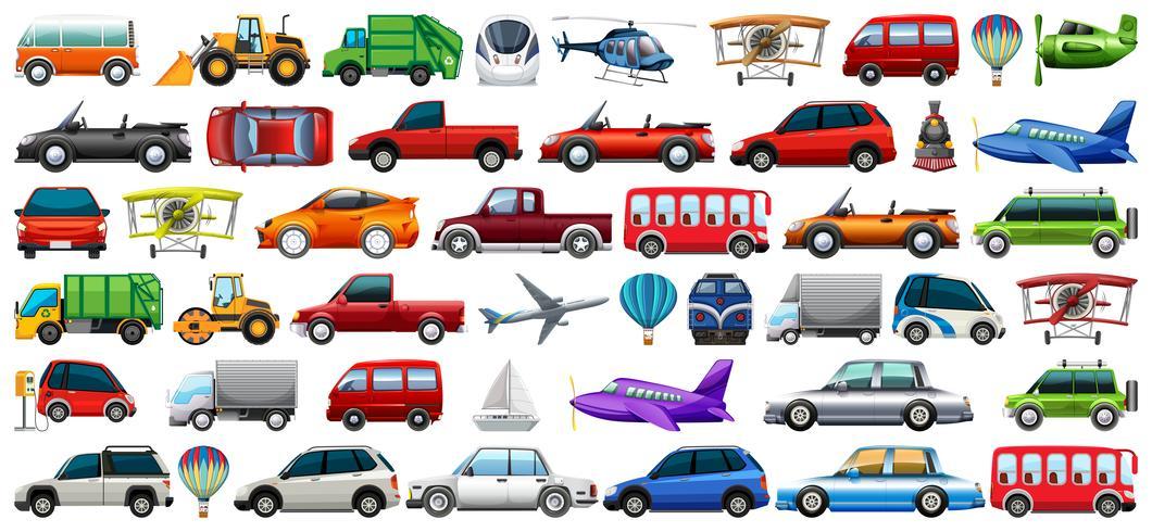Jogo, de, transporte, veículo