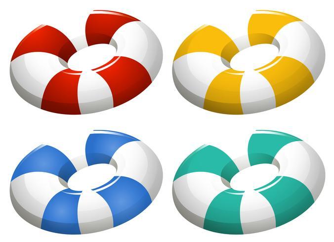 Set van opblaasbare ring