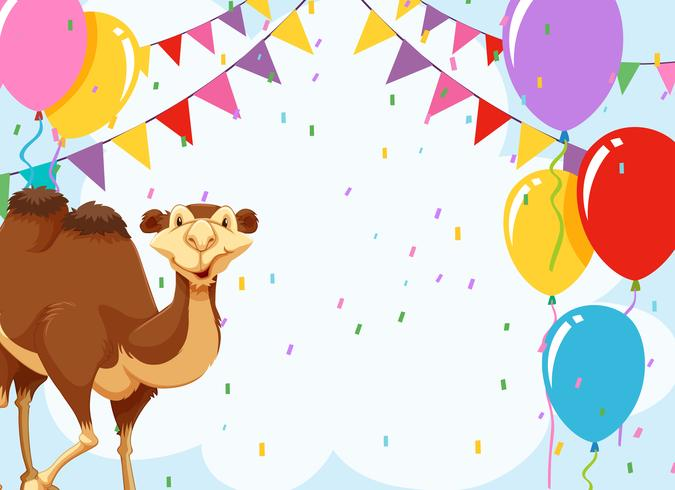 camel on a party invite