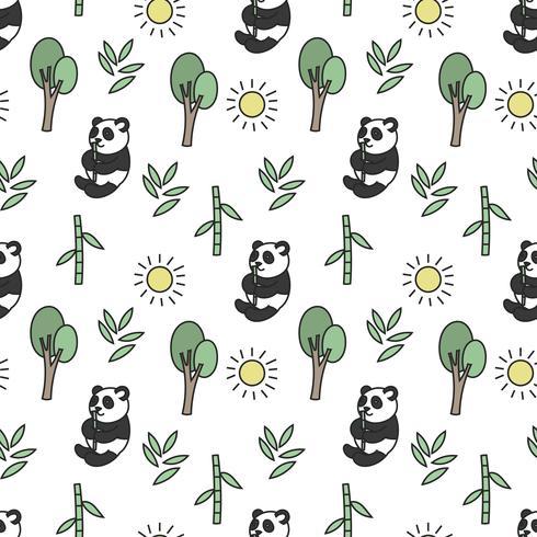 Schattig panda naadloze patroon