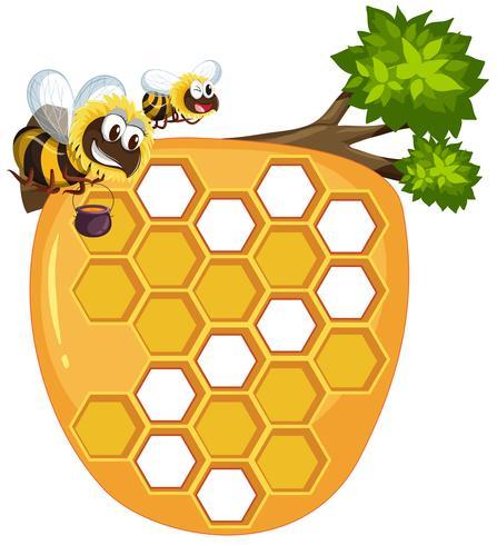 Getrennter Bienenstock auf weißem Hintergrund
