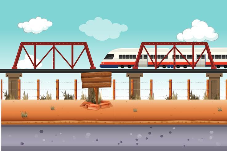 Tren a zona rural.