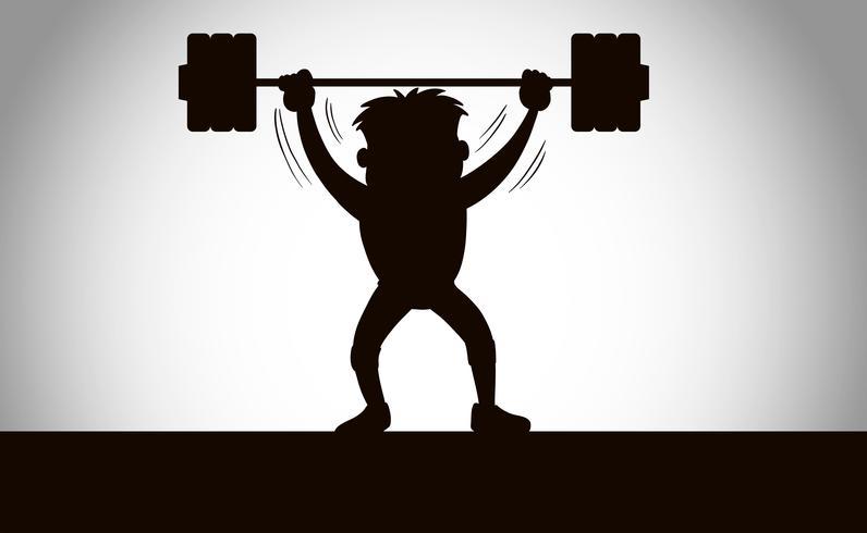 Una silhouette di sollevamento pesi
