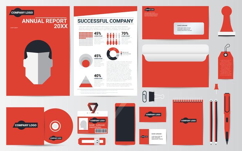 Colección de papelería de identidad corporativa. vector