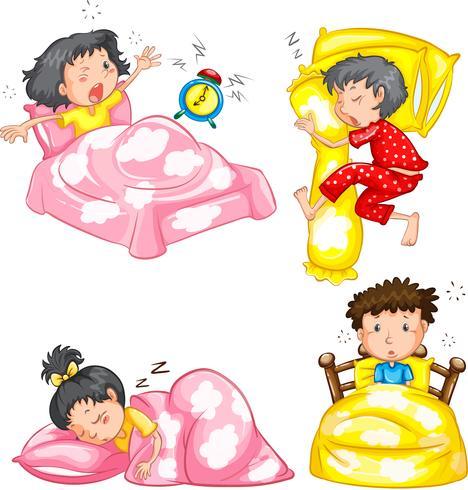 Set schlafende Kinder