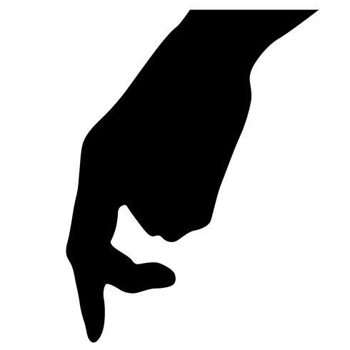 finger walking vector
