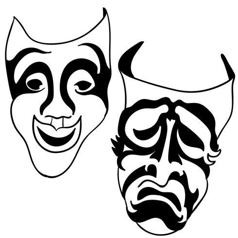 thespian mask vektor eps