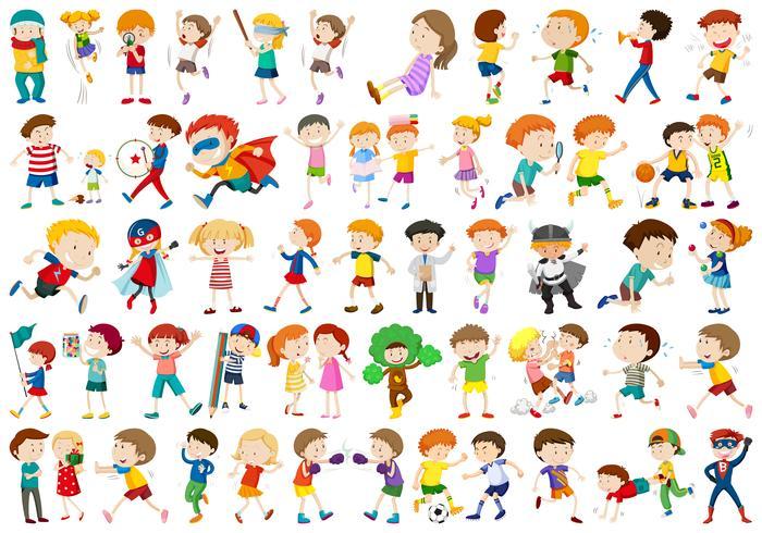 Conjunto de muchos personajes