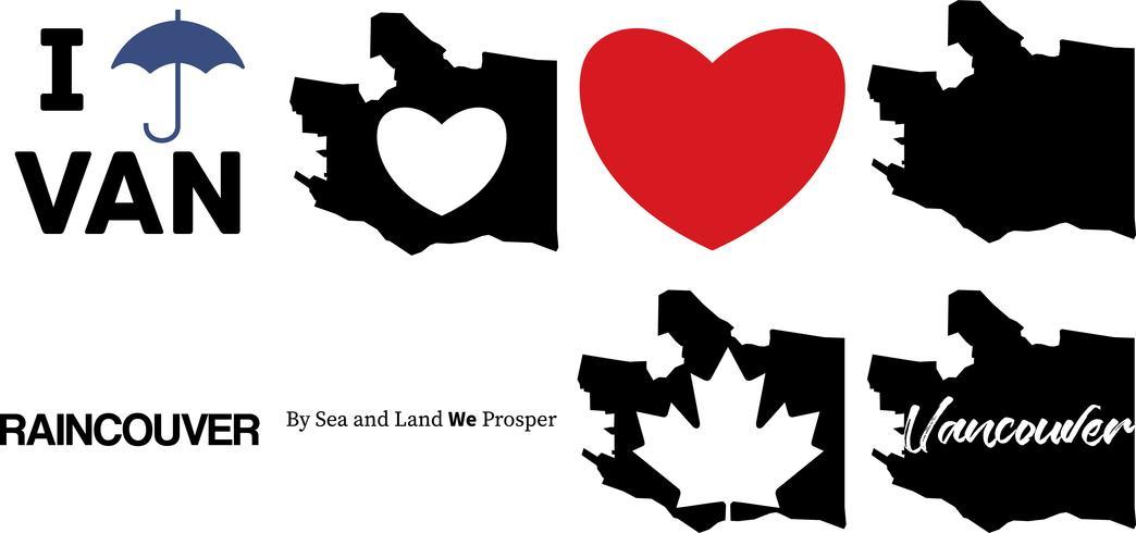 Vektorkarte von Vancouver Kanada