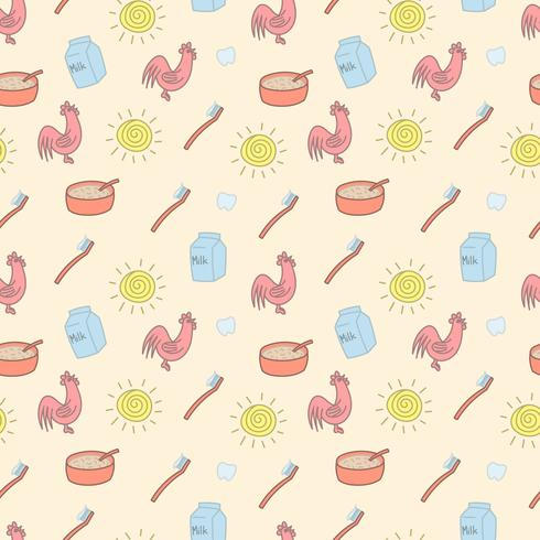 Good morning seamless pattern