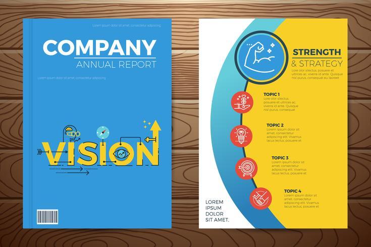 Copertina del libro di visione aziendale vettore
