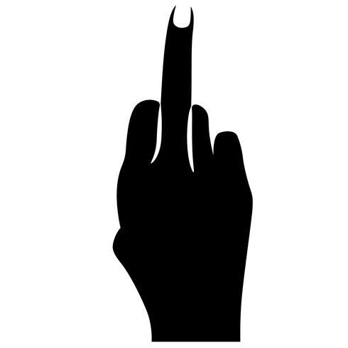 segno del dito medio