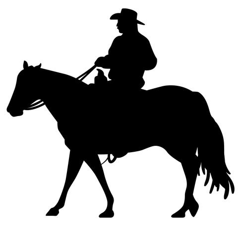 Riding A Horse Silhouette Download Free Vector Art