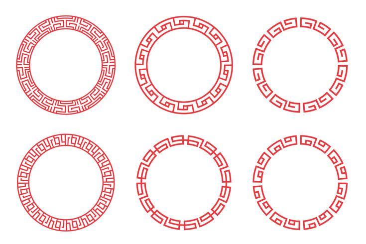 Design de círculo vermelho chinês