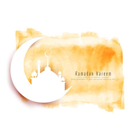 Abstract Ramadan Kareem decorative watercolor background