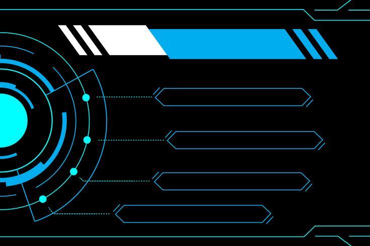 Blauwe abstracte technologie toekomstige interface hud